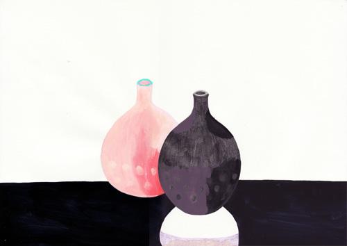 二つの花瓶