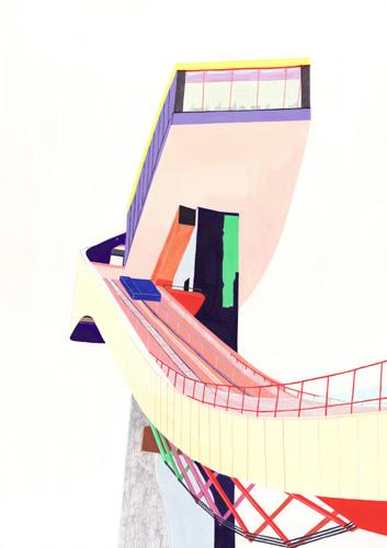 スキージャンプ台(Zaha Hadid)/2011/A3