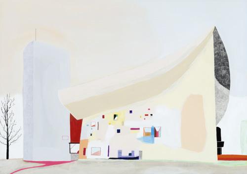 ロンシャンの礼拝堂(Le Corbusier)/2011/A3