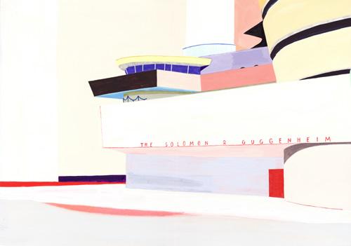 グッゲンハイム美術館(3/4)(Frank Lloyd Wright)/2011/A3